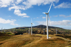 Wind Turbines. Row of wind Turbines in country side XXXL file size Stock Photos