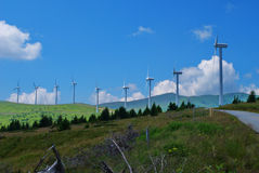 Wind turbines. Royalty Free Stock Photo