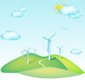 Wind turbines Royalty Free Stock Photography