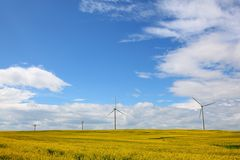 Wind turbines. In Alberta, Canada Royalty Free Stock Images