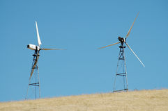 Wind turbines. Altamont Pass, California Royalty Free Stock Image