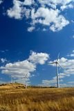 Wind turbines in Italy Stock Photo