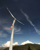 Wind turbines. In the countryside stock photography