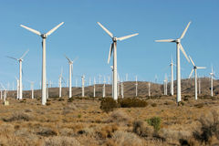 Wind turbines Stock Images