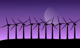 Wind turbines. Royalty Free Stock Images