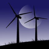 Wind turbines. Stock Image