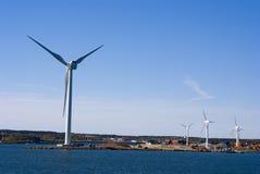 Wind turbines. Green energy Denmark Stock Photo