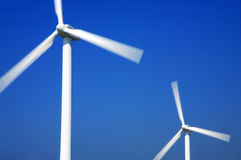 Wind turbines Royalty Free Stock Photos