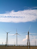 Wind turbines. Alternative energy source Environment stock photos