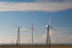 Wind turbines. Alternative energy source Environment Royalty Free Stock Photo
