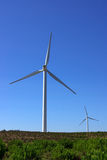 Wind turbines. On a wind field, Sagres Stock Images