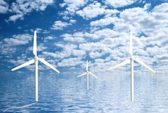 Wind turbines stock photos