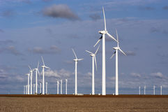 Wind Turbines 55. Wind turbines near White Deer, Texas Stock Photos