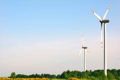 Wind turbines. Stock Images