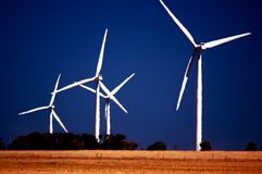 Wattle Point Wind Farm. Scenic view of Wattle Point Wind Farm, Edithburgh, South Australia stock photo