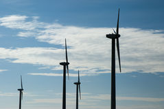 Wind Turbines. On a wind farm in Texas Stock Image