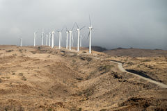 Wind Turbines Above the Coast Royalty Free Stock Images