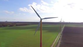 Wind turbines stock footage