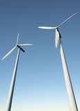 Wind turbines against the sky Stock Image