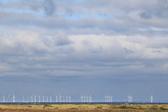 Wind turbines along the Swedish coast royalty free stock photos