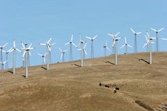 Wind turbines - alternative energy Stock Image