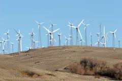 Wind turbines - alternative energy Stock Photography