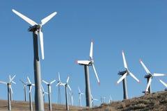 Wind turbines - alternative energy stock images