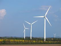 Wind turbines - Alternative energy Stock Photos
