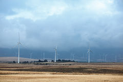 Wind turbines alternative energy source Stock Photography