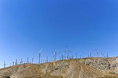 Wind turbines in America Stock Image