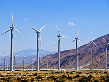 Wind turbines in America Royalty Free Stock Photo