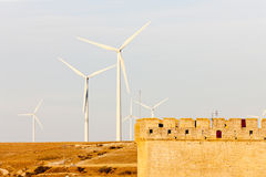 Wind turbines in Ampudia Royalty Free Stock Photography