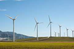 Wind Turbines. In Andalucia, Spain Royalty Free Stock Image