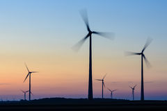 Wind turbines in Austria Stock Photo