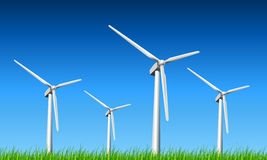Wind turbines background Stock Photo