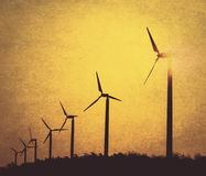 Wind turbines background Royalty Free Stock Image