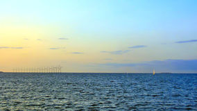 Wind turbines. In the Baltic Sea Royalty Free Stock Images