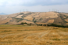 Wind turbines in Basilicata (Italy) Stock Photography