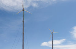 Wind turbines. And blue sky Stock Images