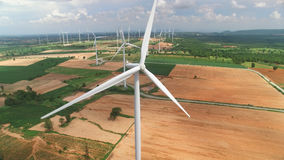 Wind turbines in blue sky Royalty Free Stock Photo