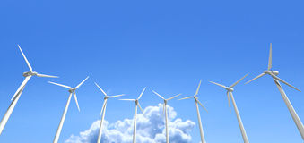 Wind Turbines Blue Sky Stock Photos