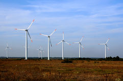 Wind Turbines in Bulgaria Stock Photography