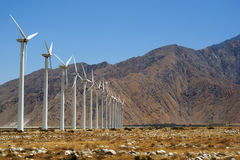 Wind Turbines in California. Near Palm Springs Stock Photo