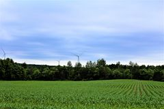 Wind Turbine. S in Chateaugay, New York in a rural community Stock Image