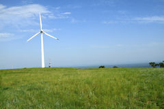 Wind turbines in china Stock Photo