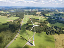 Wind turbines for clean energy Stock Photography