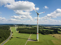 Wind turbines for clean energy Royalty Free Stock Photos