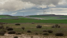 Wind turbines clean energy. Protection of nature stock video footage