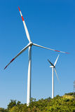 Wind Turbines on a Clear Blue Sky Stock Image
