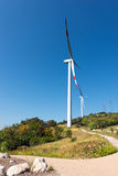 Wind Turbines on a Clear Blue Sky - Verona Italy Stock Images